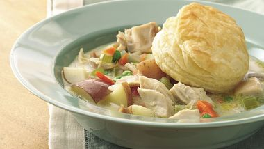 Chicken-Vegetable Pot Pie Soup