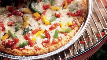 Grilled Herb and Cheese Pizza