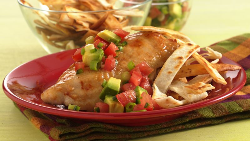 Fiesta Chicken Breasts with Tomato-Avocado Salsa