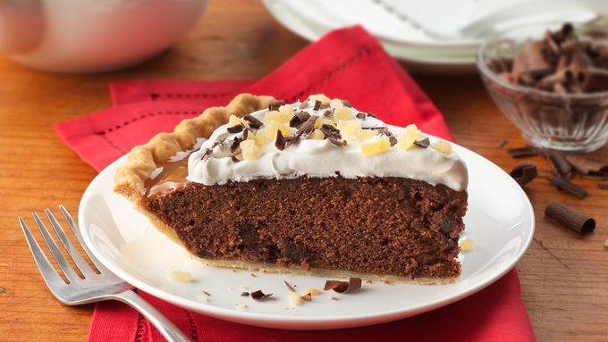 Chocolate Gingerbread Pie