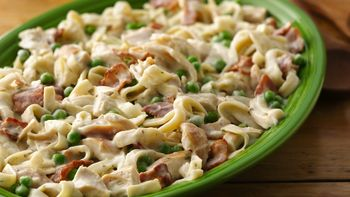 Chicken Fettuccine a la Carbonara