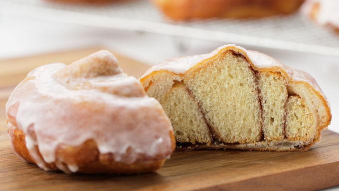 Cinnamon Roll-Stuffed Doughnuts