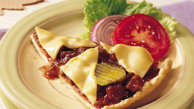 Barbecue Cheeseburger Pizza