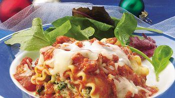 Cheesy Spinach Lasagna Roll-Ups