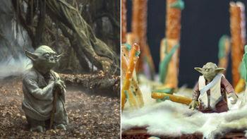Yoda Brownies Food Diorama