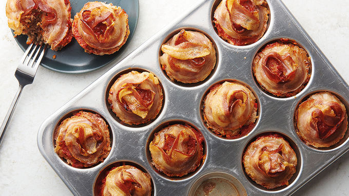 Muffin-Tin Pancetta-Rosemary Turkey Meatloaves