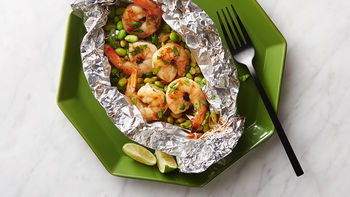 Sake Lime Shrimp and Edamame Foil Packs