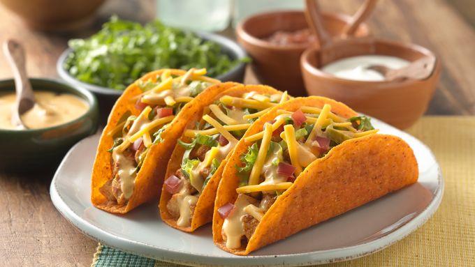 Cheesy Chicken Ten Minute Tacos
