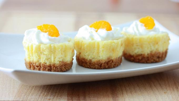 Mini Mandarin Orange Cheesecakes