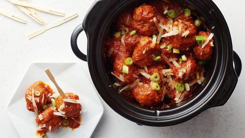Slow-Cooker Spanish Manchego Pork Meatballs