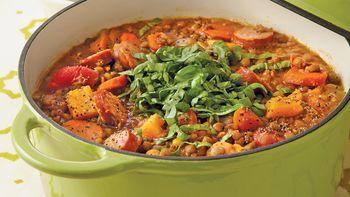 Lentil-Sausage Stew
