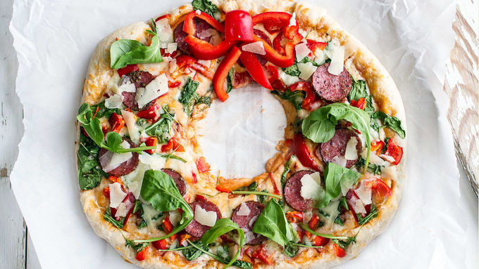 Holiday Pizza Wreath