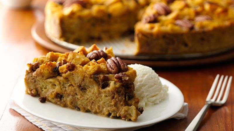 Pumpkin Bread Pudding recipe from Betty Crocker