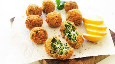 Fried Spinach and Artichoke Dip Balls