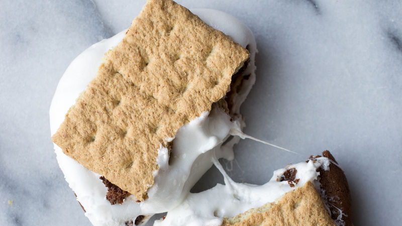 Double Chocolate Cookie S'More