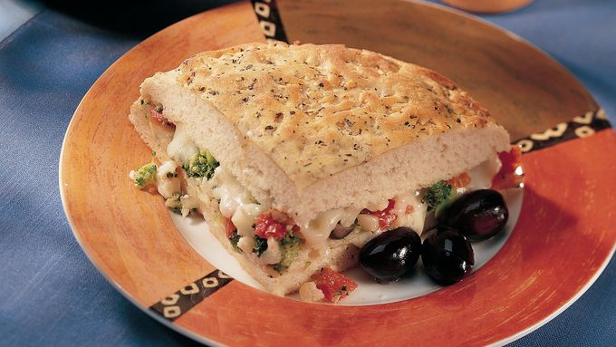 Italian Vegetable Focaccia Sandwich