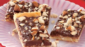 Chocolate Macaroon Crescent Bars