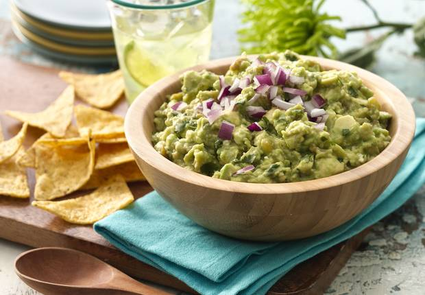 Try this delicious twist on guacamole with queso fresco cheese.