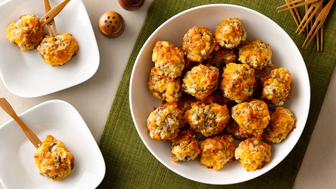 Cheddar Apple Sausage Balls