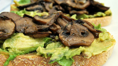 Roasted Portabella Mushroom and Avocado Open-Face Sandwiches