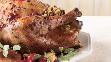 Cherry-Glazed Turkey with Dried Cherry-Apple Stuffing