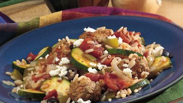 Mediterranean Meatball Supper Skillet