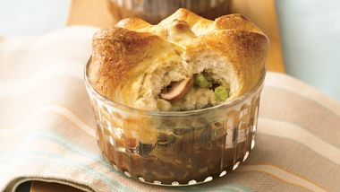 Mongolian Steak & String Beans Pot Pie