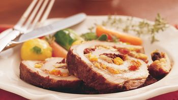 Slow-Cooker Fruit-Stuffed Pork Roast