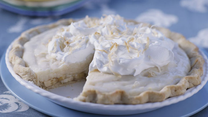Skinny Creamy Tropical Banana Pie