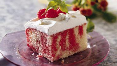 Raspberry Poke Cake