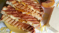 Grilled Cheese with Pineapple and Apricot Jam