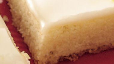 Iced Lemon Shortbread Bars
