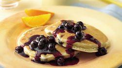 Blueberry-Orange Pancakes with Blueberry-Orange Sauce