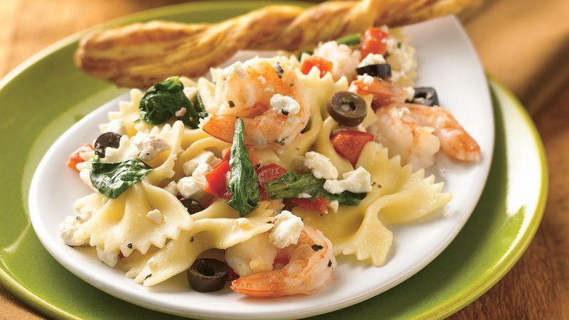 Mediterranean Pasta with Shrimp