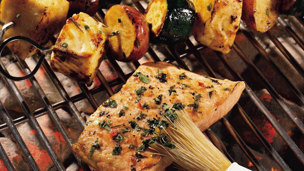 Cilantro Salmon on the Grill