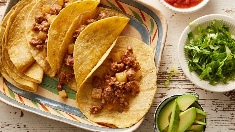 Tacos de Carne Molida con Papas