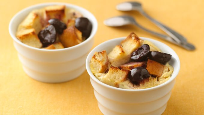 Individual Black Forest Bread Puddings