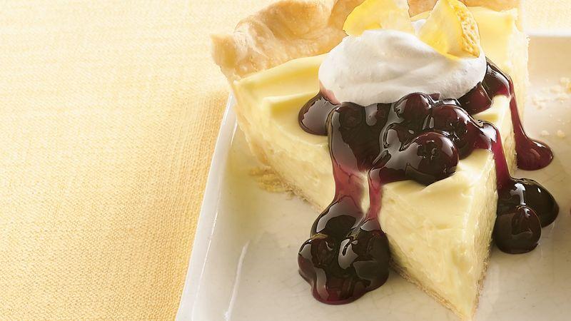 Lemon Cream Cheese-Blueberry Pie