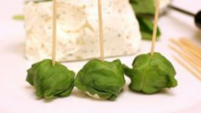 Prim's Basil Goat Cheese Bites