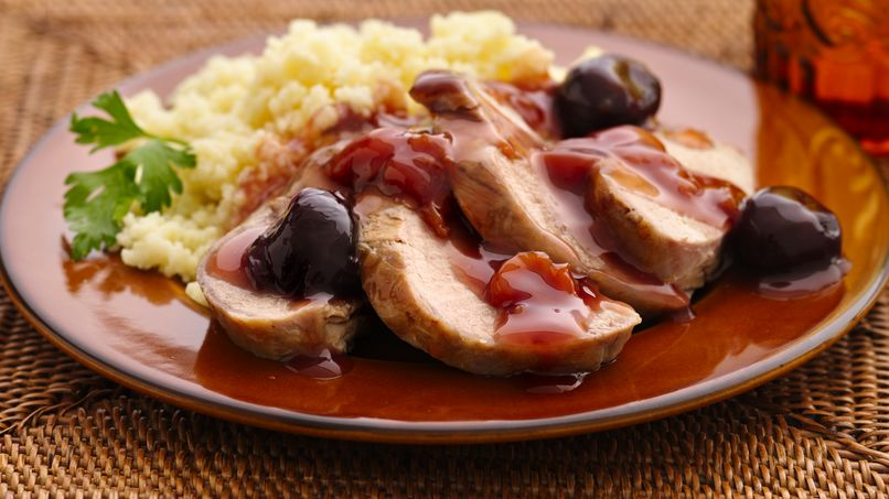 Pork Tenderloin in Dark Cherry Sauce