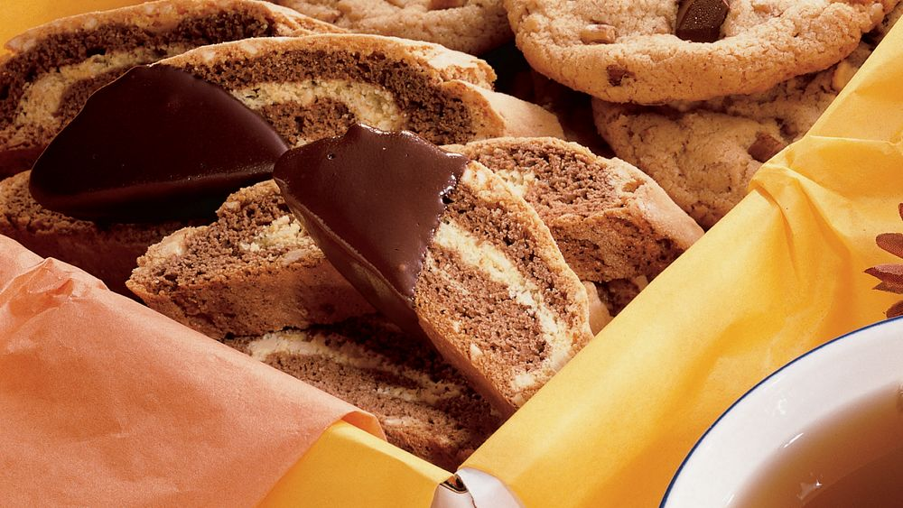Mocha-Almond Marbled Biscotti