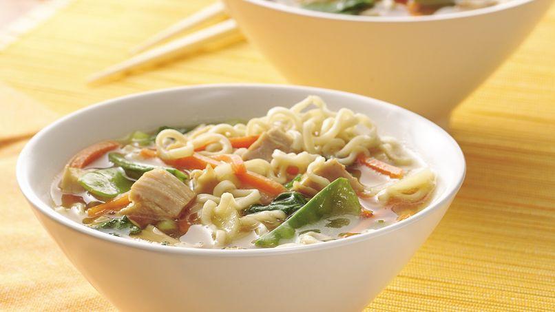 Sopa de Pasta y Pollo