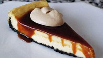 Irish Cream Cheesecake with Whiskey Caramel