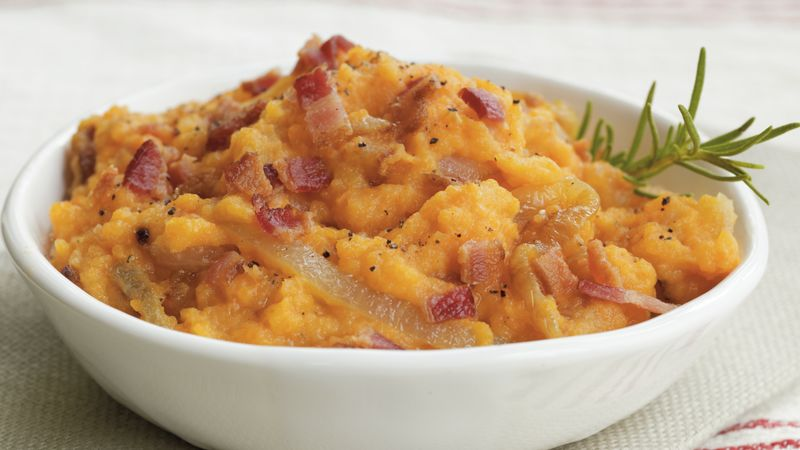 Rutabaga Smash with Bacon