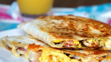 Breakfast Quesadillas With Egg and Sausage