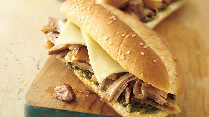 Turkey Cacciatore Sandwiches