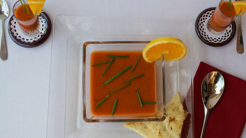 Tomato, Orange and Basil Soup