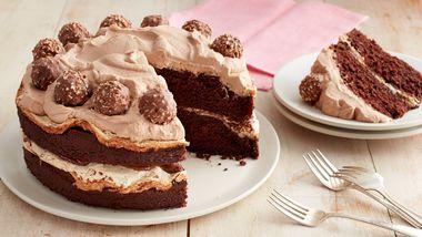 Chocolate-Hazelnut Meringue Layer Cake