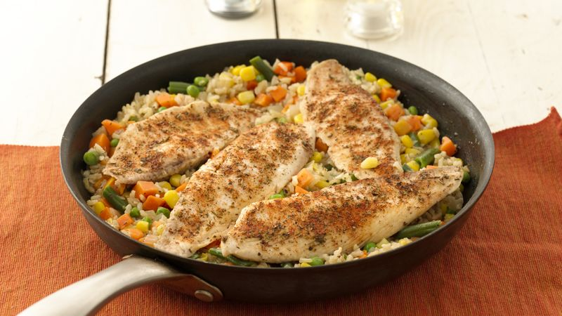 Italian-Seasoned Tilapia and Brown Rice
