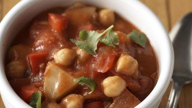 Skinny Chunky Chick Pea and Potato Soup